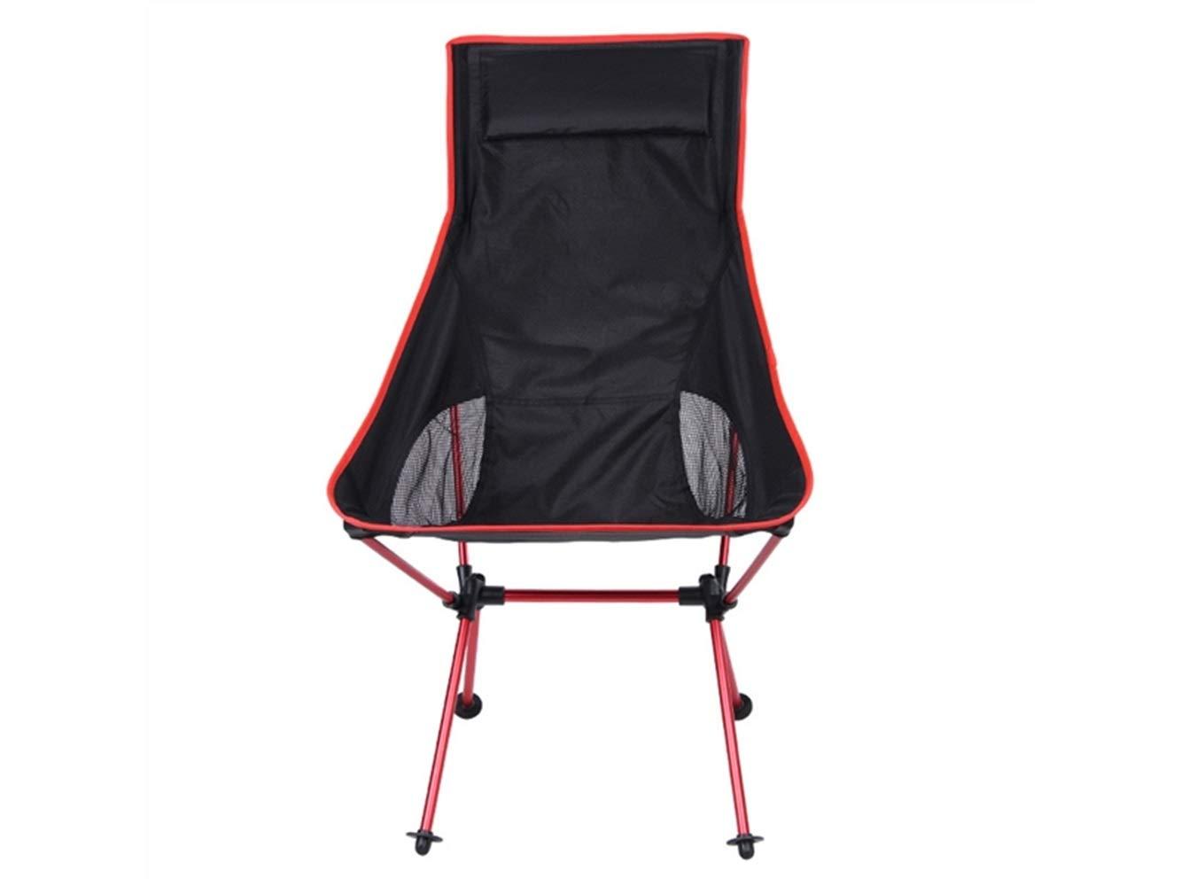 LMKIJN Bequemer Stuhl Outdoor-Klapp Angeln Stuhl Liege Camping Stuhl Strand Liege für Camping und Angeln (rot) für den Urlaub