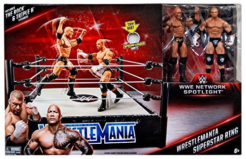 Rumble Ring - WWE Wrestling WWE Network Spotlight WrestleMania Exclusive Superstar Ring [Includes The Rock & Triple H]