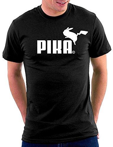 Pokemon Pika Parodie T-shirt, Größe XXL, Schwarz