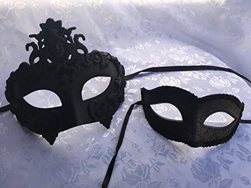 [New Hercules Madusa with Elegant Simple Women's Mask Black Couple Mask Lover Mask His and Her Masquerade Mask Ball Prom Party] (Hercules Costume Couple)