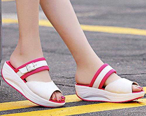 Runyue Chausson pour Slip Sandales Antid Doux Flat on Plage Femmes Pantoufles Mules rqHrx6X