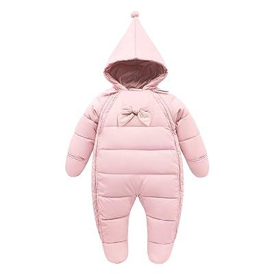 Bébé Combinaison De Neige Doudoune Manteau à Capuche Footed Combinaisons Chaud Barboteuse Jumpsuit Hiver Tenues