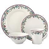 Cheap Pfaltzgraff Holiday Garland 16-Piece Dinnerware Set, Service for 4