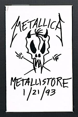 METALLICA Metallistore 1/21/93 ORIGINAL PROMO CASSETTE 3 Tracks LIVE