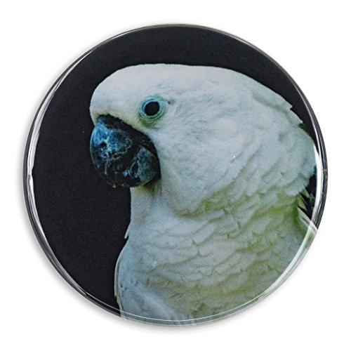 White Cockatoo Photo Print, 2.25 Inch Pocket Mirror, Refrigerator Magnet or Pinback Button
