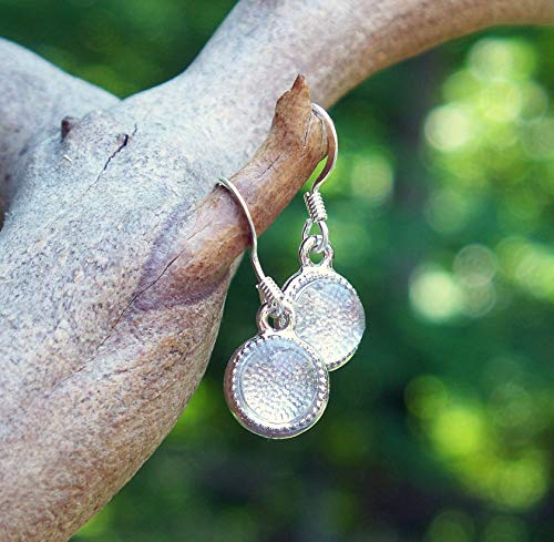 (Recycled Vintage Clear Milk Bottle Clear Glass Color Dot Earrings)