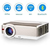 EUG Android Bluetooth Projector 4200 Lumen 1280x800 Native LCD LED Multimedia Video Projector