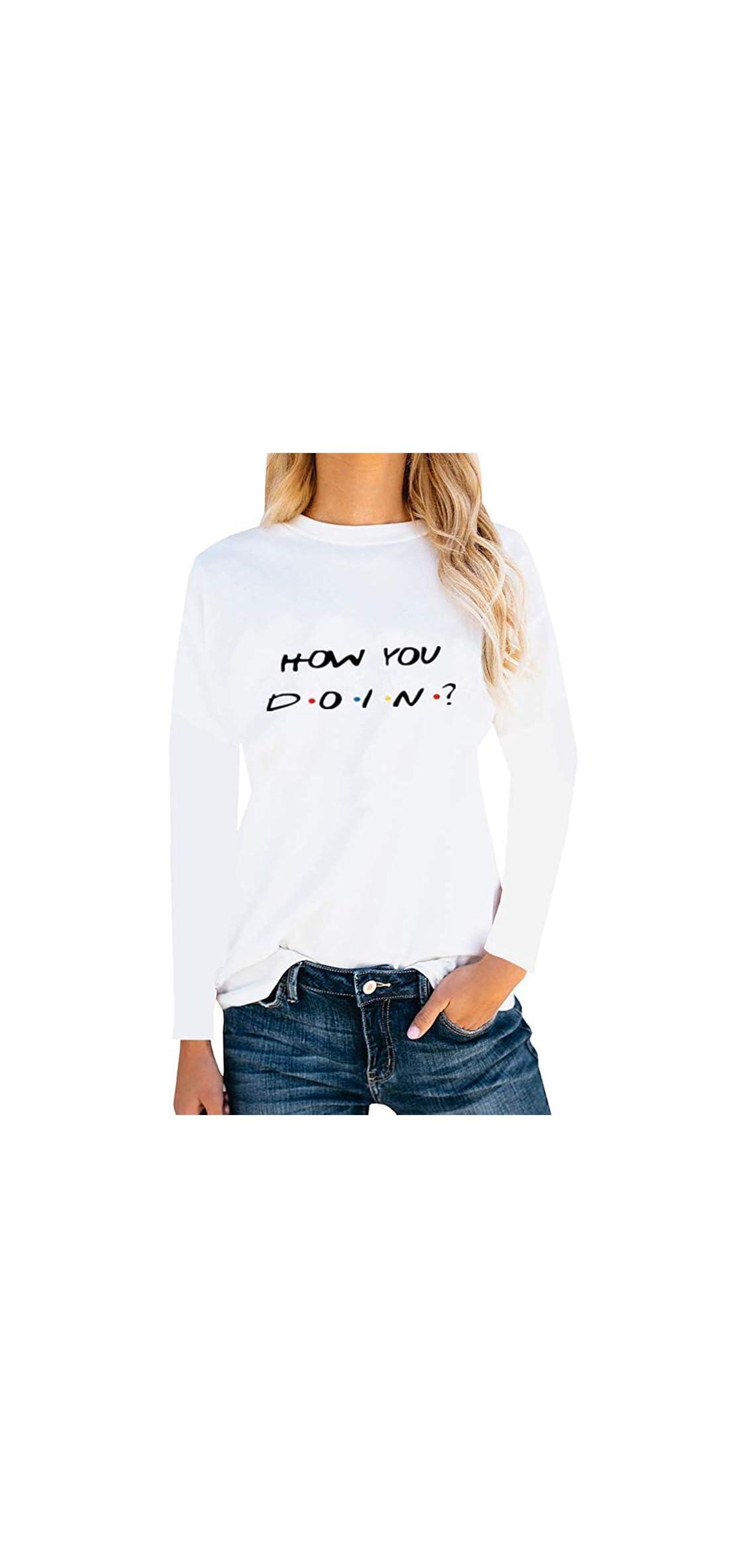 Women Teen Girls Funny Cute Graphic T Shirt Long Sleeve Shirts