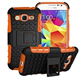 Samsung Galaxy Core Prime Case Cover -Lantier Tough Rugged Dual Layer Protective Case with Kickstand for Samsung Galaxy Core Prime G360 / Prevail LTE (2015 Release) Orange