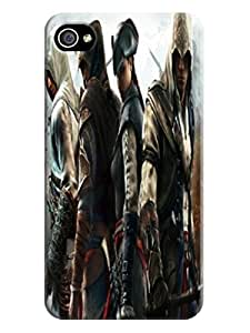 Cool Assassin's Creed Hot Cell Phone Protects Cover Case for iphone 4/4s on Sale,TPU fashionable Designed