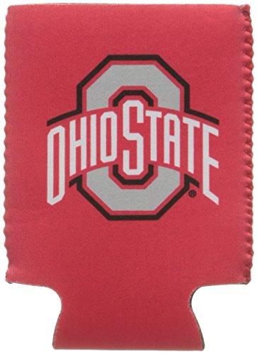 Logo Brands NCAA Ohio State Buckeyes Flat Drink Coozie -