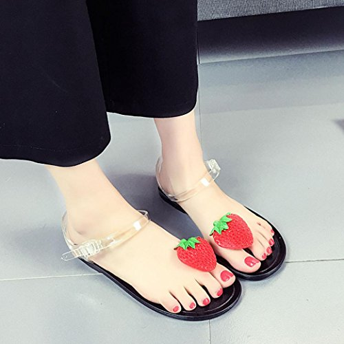 Simple Clip Crystal Style 2017 Toe Flop Summer Fruit Beach New Clode® Sweet Sandals Girls Flip Fashion Womens Black Sandals Shoes Flat Ladies 4O7w8P67q