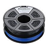 Excelvan New 3D Printer Printing Filament 1.75mm PLA for Print RepRap MarkerBot 1kg/2.1lbs (Blue & Balck) Excelvan Supplies
