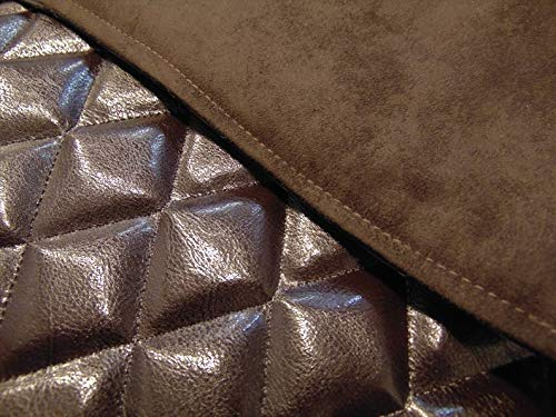 luvfabrics 14 x 30 inch Quilted Diamond Stitched Dark Brown Houston Sofa Theater Seat Chair Caps Protector with Suede Backing RV Cover Chaise Headrest Pad Loveseat Recliner Head Cover