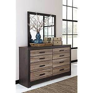 Ashley Furniture Signature Design - Harlinton Dresser - Modern Meets Vintage - 6 Drawer Dresser - Warm Gray & Charcoal