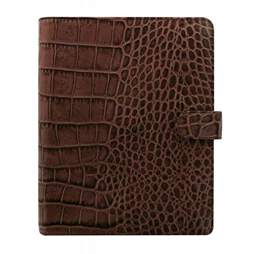- Filofax Classic Croc Print Leather Organizer Agenda Calendar with DiLoro Jot Pad Refills (A5, Chestnut 2019, 026017)