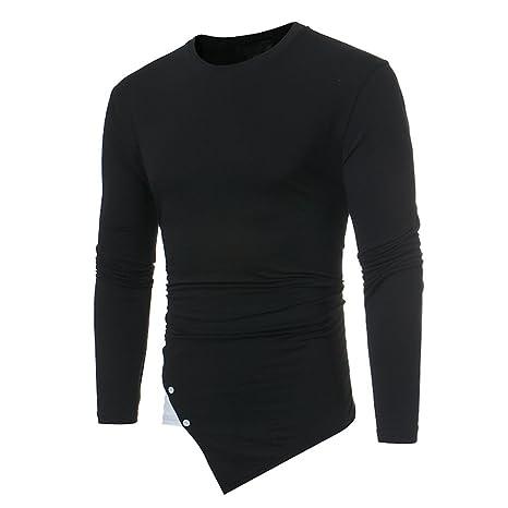 Hombre blusa manga larga Otoño,Sonnena ❤ Camisa de manga larga casual para hombre