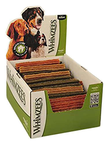 Medium 100 Pack Whimzees Natural Dental Dog Treats Stix Medium, 1x100