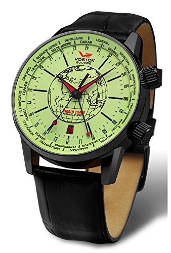 Vostok-Europe - Gaz-Limo Series - Kosmodrom - Light Green Full Lume - 2426-5604240