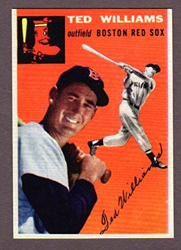 Ted Williams 1954 Topps #1 Baseball Reprint Card (Boston Red - Williams Figurine Ted