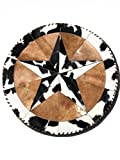 Cheap Trahide Company Star Round Hair on Cowhide Area Rug