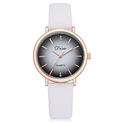 Reloj de pulsera analógico de cuarzo, sin números, con diamantes de imitación, para