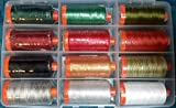 SPECIAL AURIFIL COLLECTION:OF 12 FESTIVE CHRISTMAS COLORS!