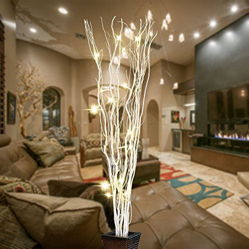 White Branches With Led Lights