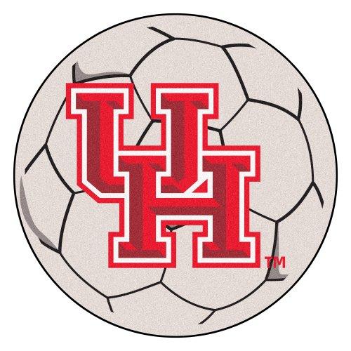 (NCAA University of Houston Cougars Soccer Ball Mat Round Area Rug)