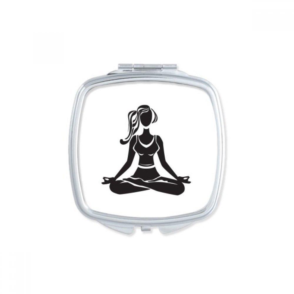DIYthinker Espejo de Bolsillo de Yoga Girl Mantener Sana ...