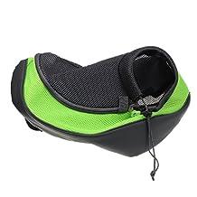 Sannysis Pet Dog Cat Puppy Carrier Mesh Travel Tote Shoulder Bag Backpack (green, L)