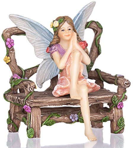 Joykick Fairy Garden Wishing Well Kit - Miniature Hand Painted Figurine Statues with Accessories - Set of 5pcs for Your House or Lawn Decor by Joykick (Image #2)