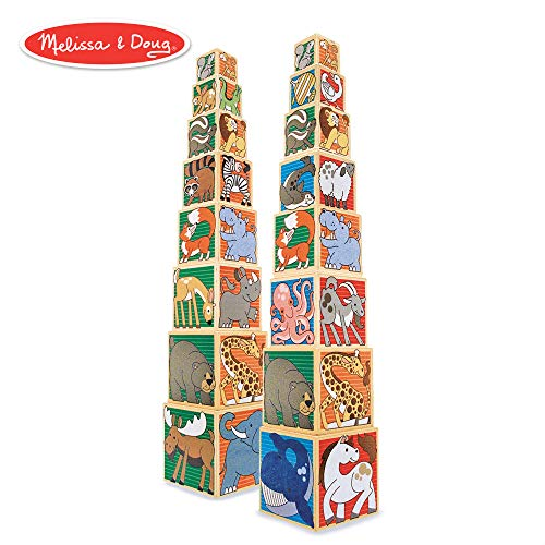 - Melissa & Doug Wooden Animal Nesting Blocks (8 Blocks, Almost 3 Feet Tall!)