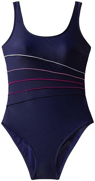 etirel Damen Badeanzug Freni Schwimmer Schwimmanzug Navy Pink White  4030121-100, Größe 6a627c234f