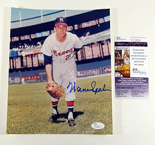 Signed Warren Spahn Picture - 8x10 Color DI39634 - JSA Certified - Autographed MLB Photos (Photograph Spahn)