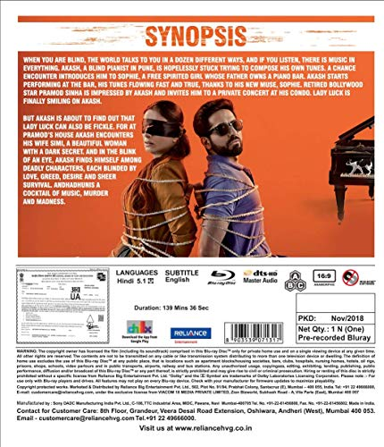 Amazon in: Buy Andhadhun DVD, Blu-ray Online at Best Prices in India