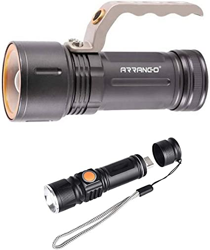 S D Shop Torcia 100000 Lumen Tattica Militare Led T6 Piu Torica Usb 515 Amazon It Fai Da Te