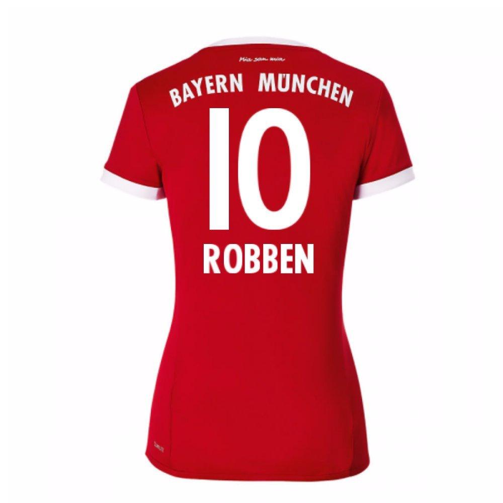 2017-18 Bayern Munich Home Womens Shirt (Robben 10) B077PVXC1GRed Size 8 Extra Small