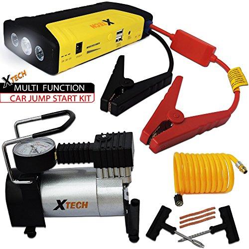 Charging Adapter Repair Kit (Xtech Multi Function Car JUMP STARTER 20000mAh Emergency KIT with a Portable POWER BANK + Portable Air Pump + Tire Repair Kit designed f/ Cars, Pickup Trucks, Boats SUV's &)