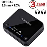 Avantree aptX LOW LATENCY support Bluetooth Audio Transmitter for TV, DUAL LINK, NO DELAY, 100ft Long Range, OPTICAL, 3.5mm AUX & RCA Wireless Adapter for PC - Audikast [3-Year Warranty]