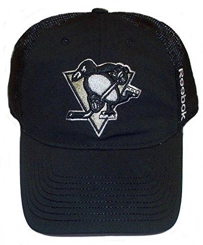 (Pittsburgh Penguins Flex Slouch Mesh Back Reebok Hat - XL/XXL - EW84Z)