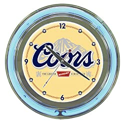 Trademark Global 14 in. Coors Banquet Neon Wall Clock
