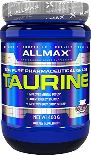Cell Muscle Volumizer (ALLMAX Nutrition 100 Pure Taurine Maximum Strength Absorption 3000 mg 14 1 oz 400 g)