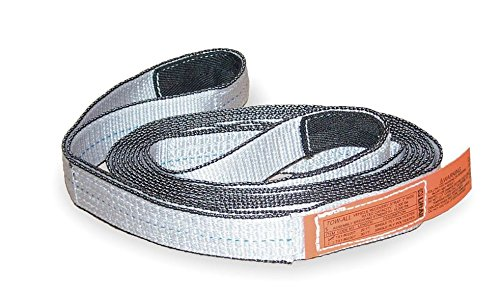 Liftall TS2803TX20 Tuffedge Polyester Web Tow-All 2-ply Vehicle Strap, 3'' x 20', 15'' Length 5'' Width by Lift All