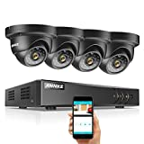 ANNKE 720P 8-Channel Home Security Camera System,1080N HD-TVI CCTV DVR Recorder and (4) 1.3MP 960P Night Vision Indoor/Outdoor Weatherproof Surveillance Dome Cameras(No Hard Drive)