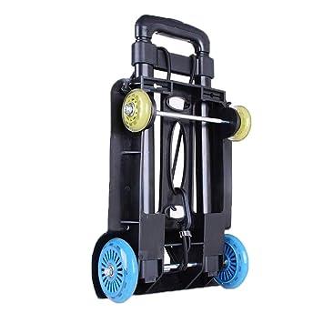 Carretilla para equipaje, pequeño carro plegable carretilla portátil de compras del hogar tire del remolque carro de equipaje de transporte (Color : C): ...