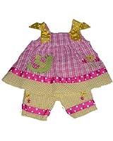 Bonnie Baby Baby-girls Worm & Flower Seersucker Dress & Capri
