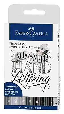 Faber-Castell India Ink Pitt Artist Hand Lettering Starter Set (9 pack)