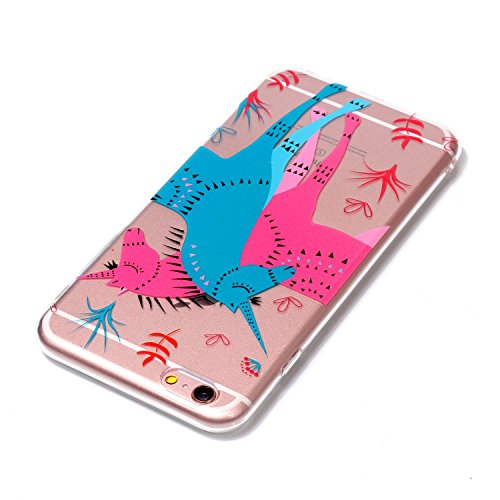 iPhone 6 / 6S Plus Hülle , Leiai Modisch Windmühle TPU Transparent Clear Weich Tasche Schutzhülle Silikon Handyhülle Stoßdämpfende Schale Fall Case Shell für Apple iPhone 6 / 6S Plus
