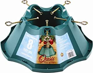 Jack-Post Oasis Christmas Tree Stand, for Trees Up to 8-Feet, 1.3-Gallon Water Capacity